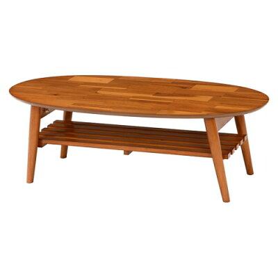 センターテーブル ローテーブル 折れ脚 : 幅1型:ライトブラウンアカシア