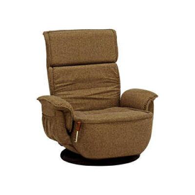ポケットコイルリクライニング回転座椅子 ブラウン  LZ-4184BR
