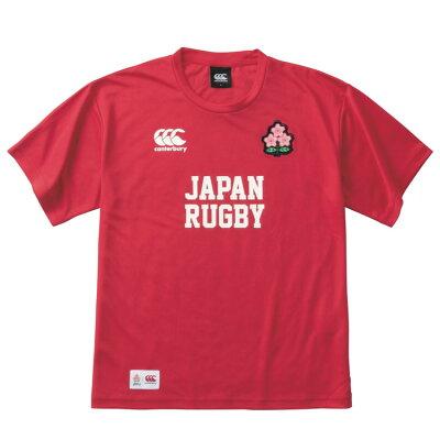 カンタベリー CANTERBURY メンズ ラグビー ジャパンレッドティーシャツ JAPAN RED TEE レッド VCC39117 65