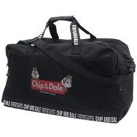チップ&デール ボストンバッグ 大容量 トラベル ボストンバッグ メッシュポケット ディズニー クラックス 57×36×26cm 旅行かばん