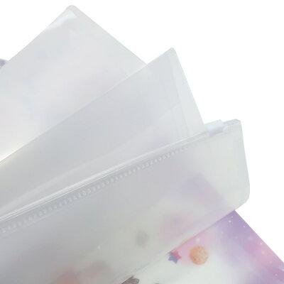 チップ&デール ジップファスナー付 6ポケット A4 クリアファイル ポケットファイル グミ ディズニー クラックス