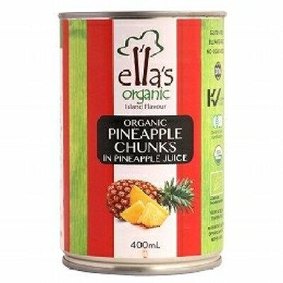 エラズオーガニック オーガニックパインアップルチャンク缶(400g)