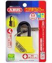 BP70/35 ABUS 防水南京錠 アクアセーフ イエロー 35mm キー 03721108-001