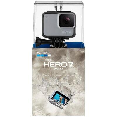 GOPRO マイクロSD対応 フルハイビジョンムービー ウェアラブルカメラ GoPro(ゴープロ) HERO7 ホワイト CHDHB-601-FW フルハイビジョン対応 /防水