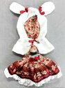 ユニベアシティ ぬいぐるみ専用コスチューム ドレス Alice Red&Black