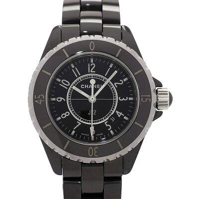 シャネル J12 〔ブラック ユニセックス〕 H0682 腕時計