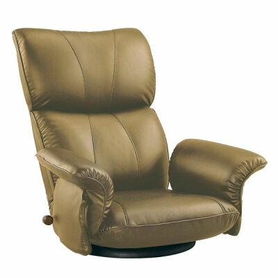 MIYATAKE/ミヤタケ スーパーソフトレザー座椅子 YS-1396HR ブラウン