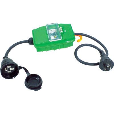 日動 三相200V防雨延長ブレーカ 漏電保護専用 (1台) 品番:2BW-EB3-20A
