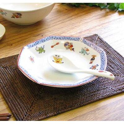 ナルミ(NARUMI) 唐子 チャーハン皿 19cm