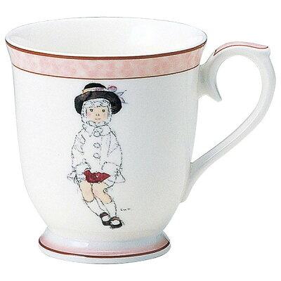 ナルミ いわさきちひろ こげ茶色の帽子の少女 50673-2635 マグカップ