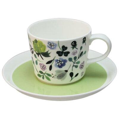 ナルミ(NARUMI)  アンナエミリア  ティーコーヒー兼用カップ&ソーサー(クローバーガーデン) 220cc 51854-23117
