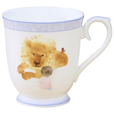 ナルミ(NARUMI) いわさきちひろ マグカップ(見つめあうライオンと女の子) 290cc 51903-2635