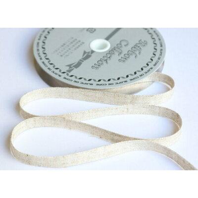 小西リボン/リネンテープ 平織タイプ 10mm×10m ベージュ/KR2553-10MM