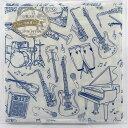 ペーパーナプキン 楽器 フロンティア デコパージュ パーティー 音楽柄 五線譜 音符