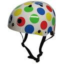 ワンダーキッズ 子供用 自転車ヘルメット SG規格適合品 緑×青×黄×赤 水玉 1歳以上 6歳未満 55cm 56cm HS-002