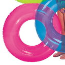 インテックス トランスペレントチューブ 浮き輪 76cm 76cm ピンク #59260PK
