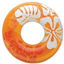 インテックス クリアカラーチューブ 浮き輪 91cm 91cm オレンジ #59251OR