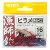 金龍 漁師鈎 ヒラメ/角セイゴ 赤 16号