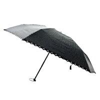 UVION(ユビオン) メンズ手開き折りたたみ傘 折 50 超軽量 ドット ブラック  傘・雨具