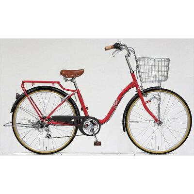 アサヒサイクル 26型 自転車 スプラウト266 マットブリックレッド/6段変速 FD66LG