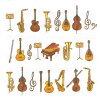 オーケストラ楽器ナプキンペーパー6280