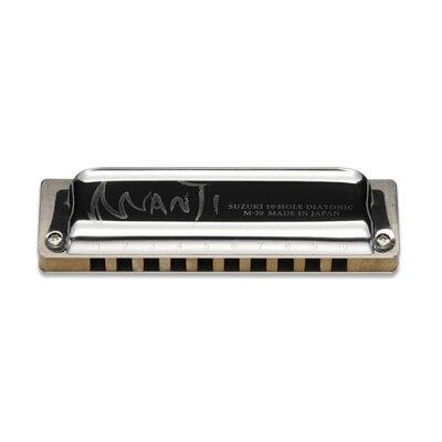 SUZUKI 10穴ハーモニカ MANJI M-20 C調 プラケース付 RP-M20
