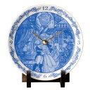 ディズニー 美女と野獣 陶時計 D-BB03  Disney 前畑 置時計 オブジェ 置物