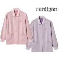 長袖 スナップボタン カーディガン シニアファッション