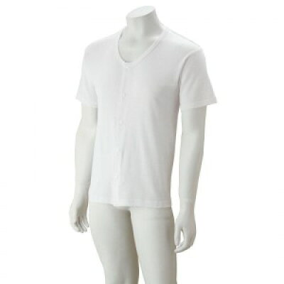 紳士大寸半袖ホックシャツ ホワイト5L 3812614 1011bs