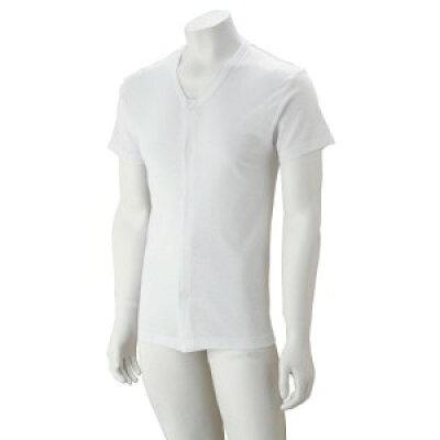 紳士大寸半袖ワンタッチシャツ ホワイト3L 3813005 1015bs
