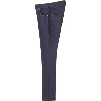 ケアファッション:カットストレッチカラーパンツ股下67cm パープル L 婦人用 89249-62