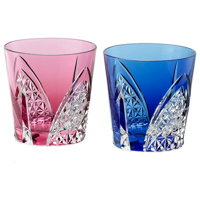 カガミクリスタル ペア冷酒杯(折鶴) 120cc 江戸切子 TPS481-2782AB