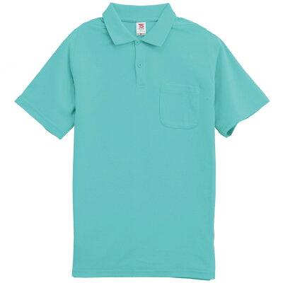 カジュアルウェア TSDESIGN ティーエスデザイン 半袖ポロシャツ カラー:ミントグリーン サイズ:SS