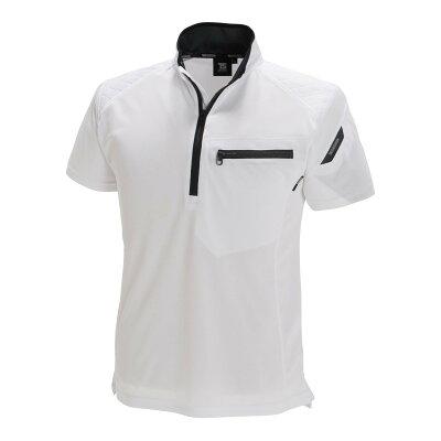 メカニックウェア・ワークスーツ・作業着 TSDESIGN ティーエスデザイン ワークニットショートシャツ カラー:ホワイト サイズ:3L