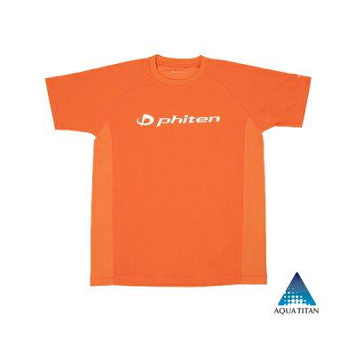 ファイテン PHITEN メンズ トレーニングウェア RAKU シャツ SPORTS 吸汗速乾 半袖 S オレンジ JG171003 JG171003