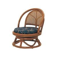 コンパクトタイプ ラタン回転座椅子 C401HRE