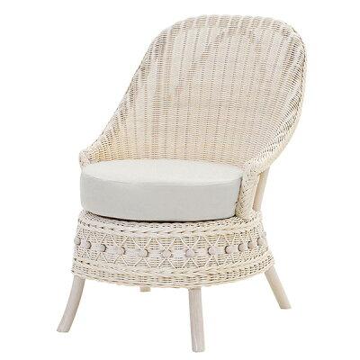 サンフラワーラタン 籐家具 Fiore フィオーレ 姫系ホワイト 1P ソファ C811WW