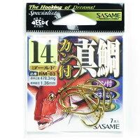 ささめ針 カン付真鯛 金 (RM-03) サイズ:14号
