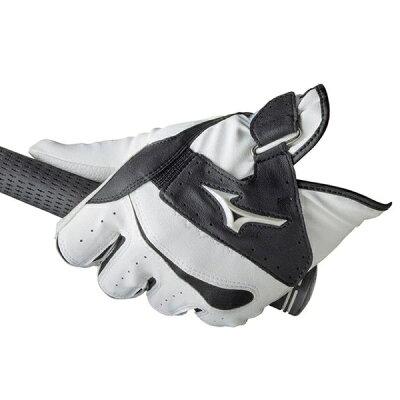 ミズノ ゴルフグローブ クロスフィット 指先ショート 21cm/ホワイト×ブラック 5MJMS60191