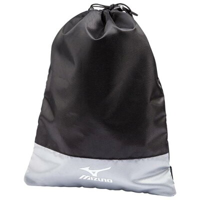 5LJS1620000903 ミズノ シューズ袋 ブラック×シルバー 5LJS1620000903