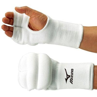 ミズノ MIZUNO 拳サポーター 両手1組/空手 ホワイト 23JHA61201