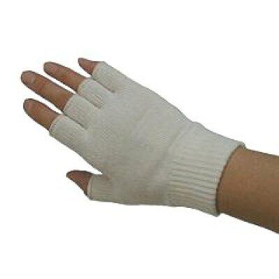 ライブコットン スパンシルク・指先フリー手袋きなり