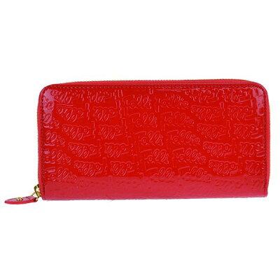 (フォリフォリ) Folli Follie フォリフォリ ロゴマニア ロゴ型押し ラウンドファスナー 長財布 レッド WA0L024SR RED