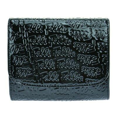 Folli Follie WA0L026SK BLACK 二つ折り財布
