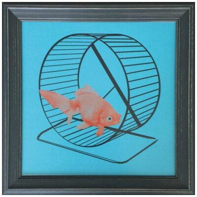 インダストリアルスタイル Goldfish Jason Laurits インテリア アート 美工社 31.6×31.6cm