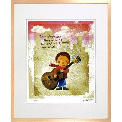 jig アートフレーム はりたつお ギターと少年 5610-015