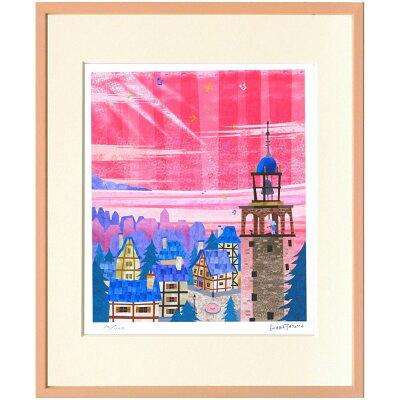 額装品 鐘つきの塔 はりたつお アートフレーム 美工社