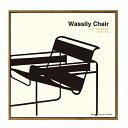 インテリア デザイン フレーム モダン アート ポスター 額付 Toshiaki Yasukawa Wassily Chair イス おしゃれ 50×50cm