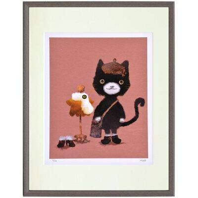 額装品 おしゃま猫 菜生nao アートフレーム 美工社 30.5×39.5×2cm 300枚