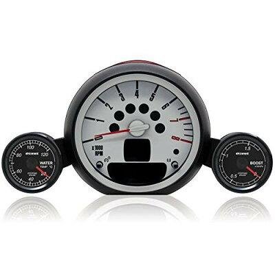 pivot   ピボット   euro car gauge メーターフルキット ブースト 正圧のみ &水温計 52φ mini cooper s r56 後期  -mn